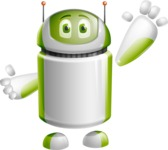 Home Assistant Robot Cartoon Vector Character AKA DAVE - Hello