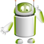 Home Assistant Robot Cartoon Vector Character AKA DAVE - Oops