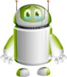 Home Assistant Robot Cartoon Vector Character AKA DAVE - Sad