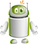 Home Assistant Robot Cartoon Vector Character AKA DAVE - Shocked