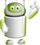 Home Assistant Robot Cartoon Vector Character AKA DAVE - Attention