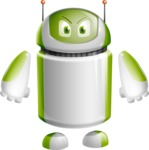 Home Assistant Robot Cartoon Vector Character AKA DAVE - Angry