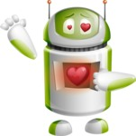 Home Assistant Robot Cartoon Vector Character AKA DAVE - Love