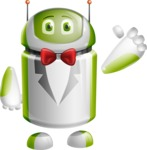 Home Assistant Robot Cartoon Vector Character AKA DAVE - Gentleman