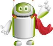Home Assistant Robot Cartoon Vector Character AKA DAVE - Super Robot