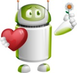 Home Assistant Robot Cartoon Vector Character AKA DAVE - Love 2