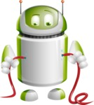 Home Assistant Robot Cartoon Vector Character AKA DAVE - Cable