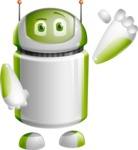 Home Assistant Robot Cartoon Vector Character AKA DAVE - Thumbs Up