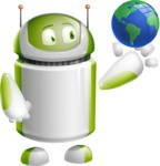 Home Assistant Robot Cartoon Vector Character AKA DAVE - Earth