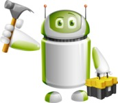 Home Assistant Robot Cartoon Vector Character AKA DAVE - Workman 2