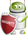 Home Assistant Robot Cartoon Vector Character AKA DAVE - Security 2