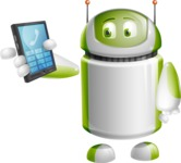 Home Assistant Robot Cartoon Vector Character AKA DAVE - Phone