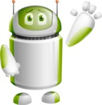 Home Assistant Robot Cartoon Vector Character AKA DAVE - Wave