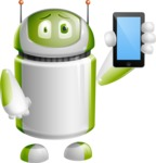 Home Assistant Robot Cartoon Vector Character AKA DAVE - iPhone