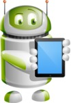 Home Assistant Robot Cartoon Vector Character AKA DAVE - iPad 1