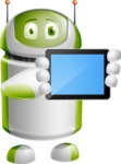 Home Assistant Robot Cartoon Vector Character AKA DAVE - iPad 2