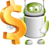 Home Assistant Robot Cartoon Vector Character AKA DAVE - Dollar