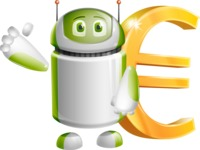 Home Assistant Robot Cartoon Vector Character AKA DAVE - Euro