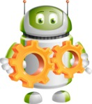 Home Assistant Robot Cartoon Vector Character AKA DAVE - Gears