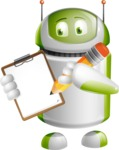 Home Assistant Robot Cartoon Vector Character AKA DAVE - Notepad