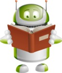 Home Assistant Robot Cartoon Vector Character AKA DAVE - Book
