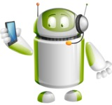 Home Assistant Robot Cartoon Vector Character AKA DAVE - Support