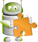 Home Assistant Robot Cartoon Vector Character AKA DAVE - Puzzle