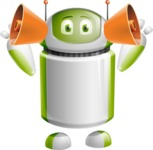 Home Assistant Robot Cartoon Vector Character AKA DAVE - Listen