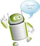 Home Assistant Robot Cartoon Vector Character AKA DAVE - Bubble