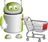 Home Assistant Robot Cartoon Vector Character AKA DAVE - Cart