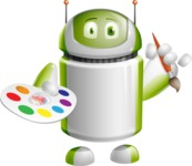 Home Assistant Robot Cartoon Vector Character AKA DAVE - Artist
