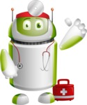 Home Assistant Robot Cartoon Vector Character AKA DAVE - Doctor