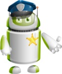 Home Assistant Robot Cartoon Vector Character AKA DAVE - Policeman