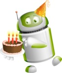 Home Assistant Robot Cartoon Vector Character AKA DAVE - Birthday