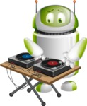 Home Assistant Robot Cartoon Vector Character AKA DAVE - DJ