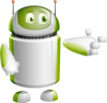 Home Assistant Robot Cartoon Vector Character AKA DAVE - Point