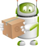 Home Assistant Robot Cartoon Vector Character AKA DAVE - Delivery 1