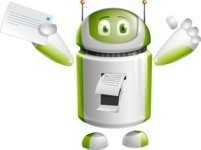 Home Assistant Robot Cartoon Vector Character AKA DAVE - Printer