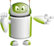 Home Assistant Robot Cartoon Vector Character AKA DAVE - Direct Attention