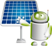 Home Assistant Robot Cartoon Vector Character AKA DAVE - Solar Panel