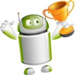 Home Assistant Robot Cartoon Vector Character AKA DAVE - Winner