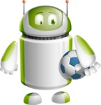 Home Assistant Robot Cartoon Vector Character AKA DAVE - Soccer