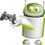 Home Assistant Robot Cartoon Vector Character AKA DAVE - Game