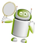 Home Assistant Robot Cartoon Vector Character AKA DAVE - Tennis 2