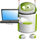 Home Assistant Robot Cartoon Vector Character AKA DAVE - Laptop 3