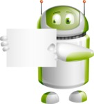 Home Assistant Robot Cartoon Vector Character AKA DAVE - Sign 4