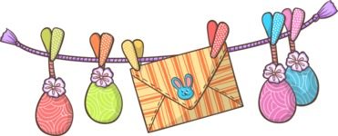 Easter Eggs and Envelope