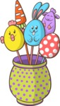 Easter Eggs on Sticks