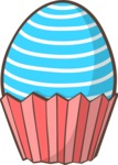 Easter Egg in a Cupcake Liner