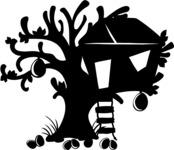 Tree House Silhouette